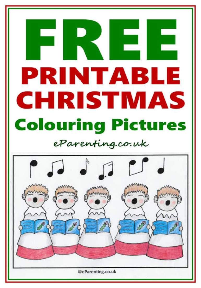 christmas colouring pages - free printable coloring pictures