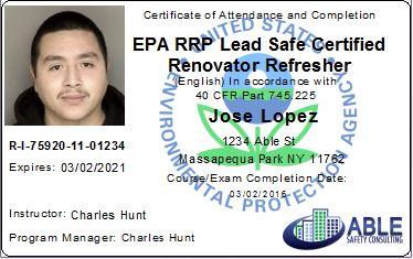 Epa Initial Certification Course Online Epa Rrp Online