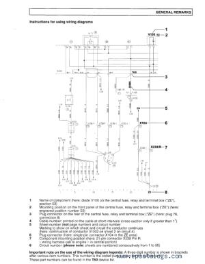MAN Electrical System (TGA) Wiring Diagrams Manual PDF