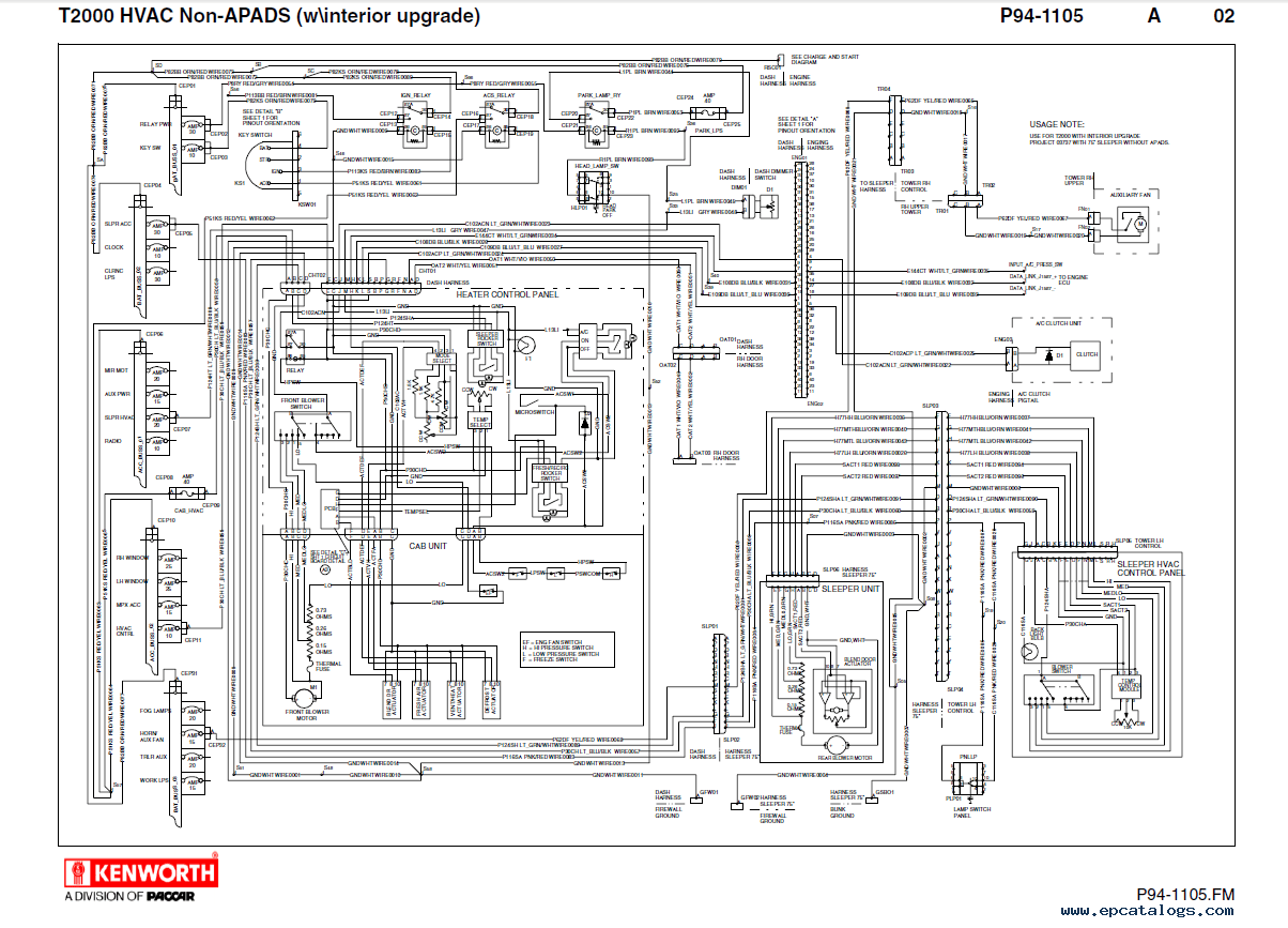 1984 Kenworth Wiring Diagram Diagram – Kenworth T800 Radio Wiring Diagram