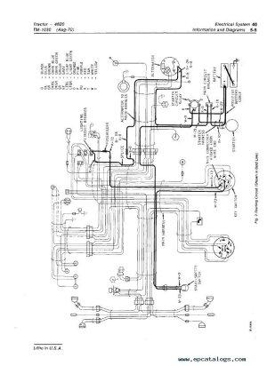 John Deere 4620 Wiring Diagram  Wiring Data