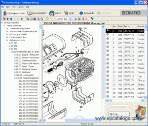 Download Bomag All Models Spare Parts Catalog 032007