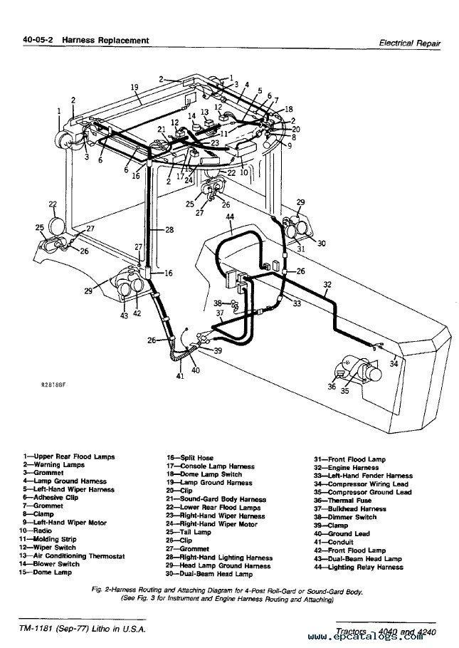 john deere 4040 4240 tractors tm1181 technical manual pdf 4440 tractor hydraulics diagram
