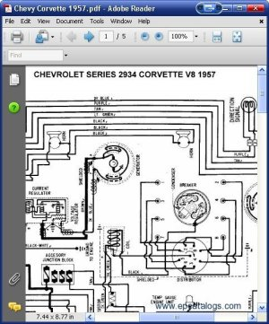 Chevrolet 2934 Corvette V8 1957 Wiring Diagrams Download