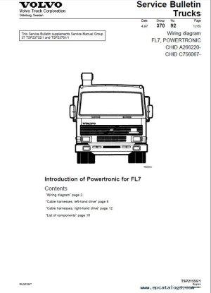 Volvo Trucks FL7, FL10, FL12 Wiring Diagram Manual PDF