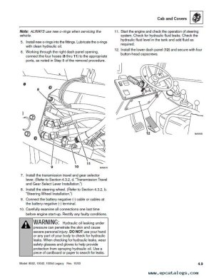 JLG SkyTrak Telehandlers 8042,10042,10054 ANSI Repair Manual
