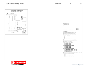 Kenworth T2000 Electrical Wiring Diagram Manual PDF