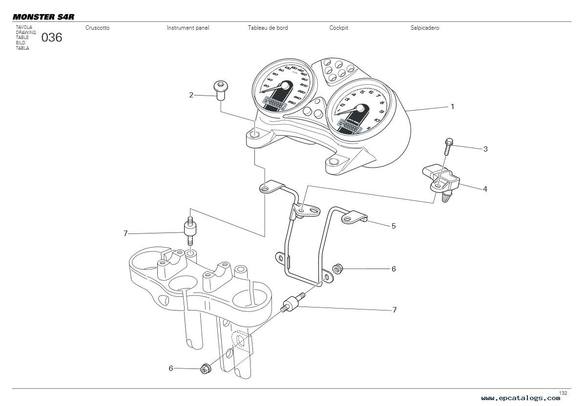 Ducati Monster S4r Parts Catalogue
