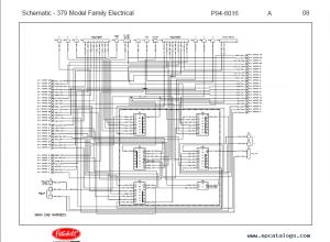 Peterbilt Truck 379 Model Family Schematic Manual PDF Download