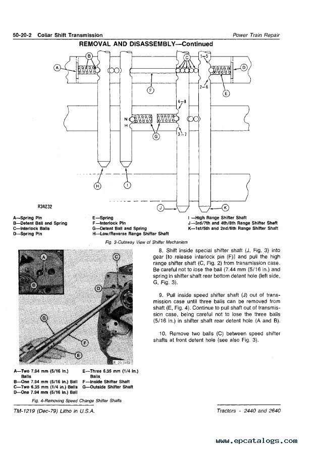 john deere 2440 2640 tractors technical manual tm1219 pdf john deere 2440 parts diagram