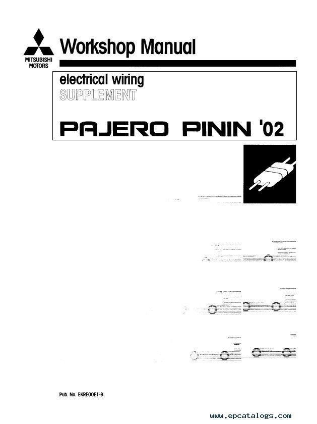 mitsubishi pajero pinin workshop manuals pdf jeep liberty radio wiring diagram roslonek net,Wiring Diagram For 2002 Jeep Liberty Radio