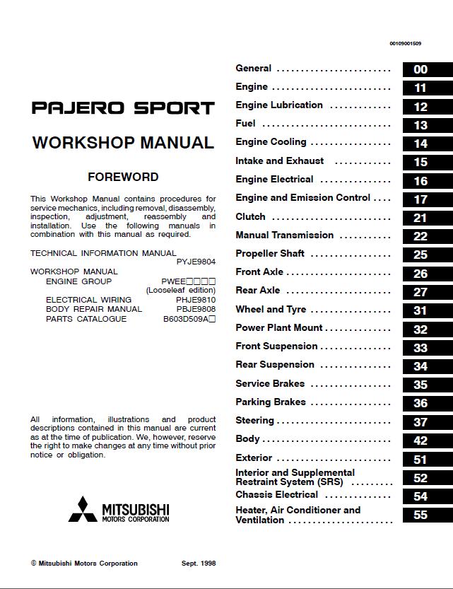 Mitsubishi Challenger Montero Pajero Sport Service Repair Manual jgbs23wea5ww wiring diagram wiring wiring diagram schematic  at virtualis.co
