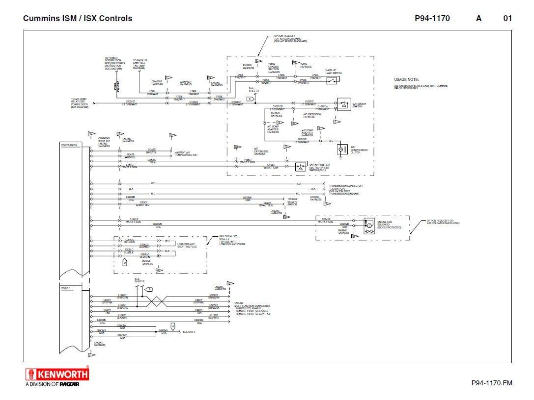 1990 Kenworth T800 Wiring Schematic Detailed Diagrams 2000 Fl60 Diagram W900 Air Conditioning Somurich Com Freightliner