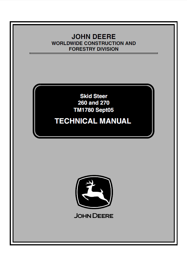 john deere 260 270 skid steer loaders technical manual tm 1780 pdf?resize=654%2C907&ssl=1 john deere 240 specs the best deer 2017 john deere 240 skid steer wiring diagram at aneh.co