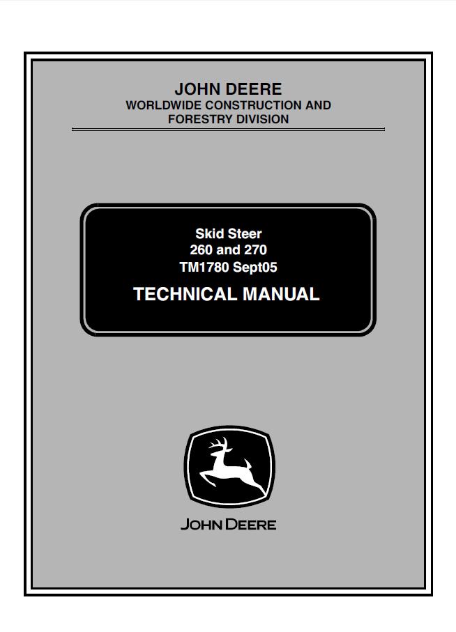 john deere 260 270 skid steer loaders technical manual tm 1780 pdf?resize=654%2C907&ssl=1 john deere 240 specs the best deer 2017 john deere 240 skid steer wiring diagram at soozxer.org