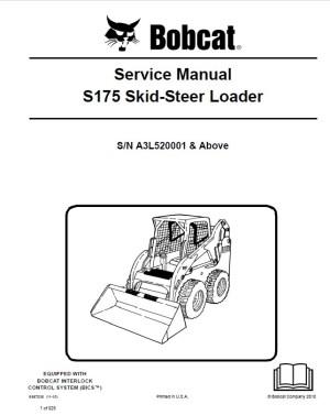 Bobcat S175 Skid Steer Loader Service Manual PDF