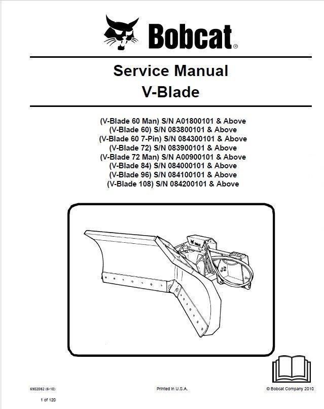 bobcat 7 pin wiring harness bobcat bulldozer wiring Horse Trailer 7 Pin Wiring Diagram bobcat 60 72 84 96 108 inch v blade service manual pdf