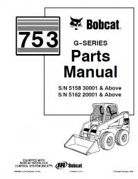 Bobcat 753 GSeries Skid Steer Loader Parts Manual PDF