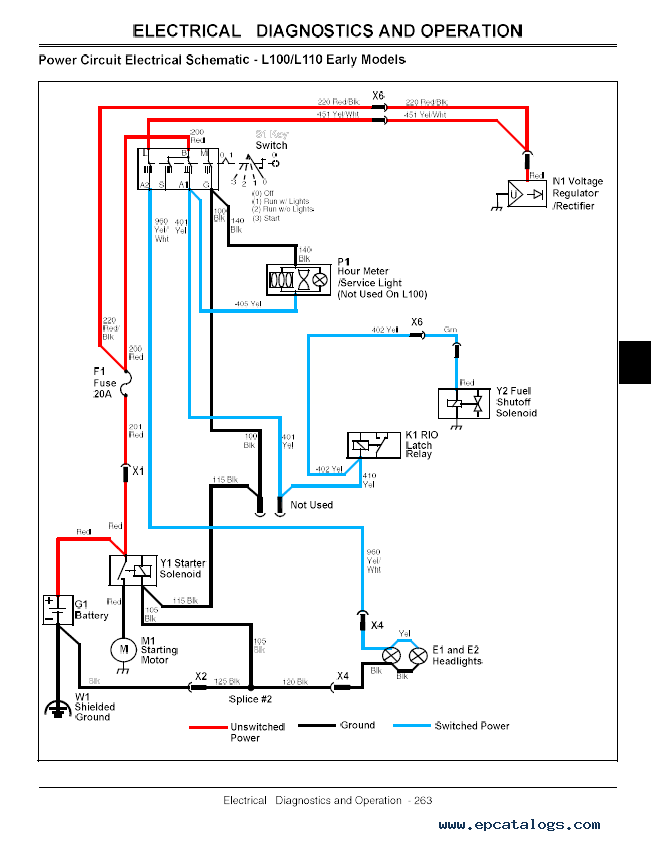 John Deere L110 Wiring Schematic john deere ignition switch ... on