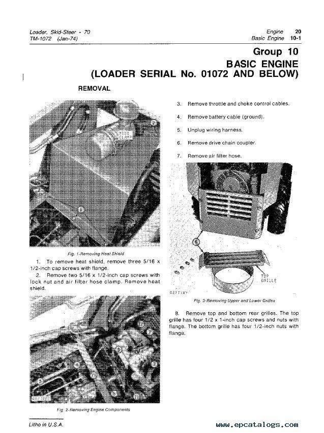 John Deere 70 Skid Steer Loader Tm Manual
