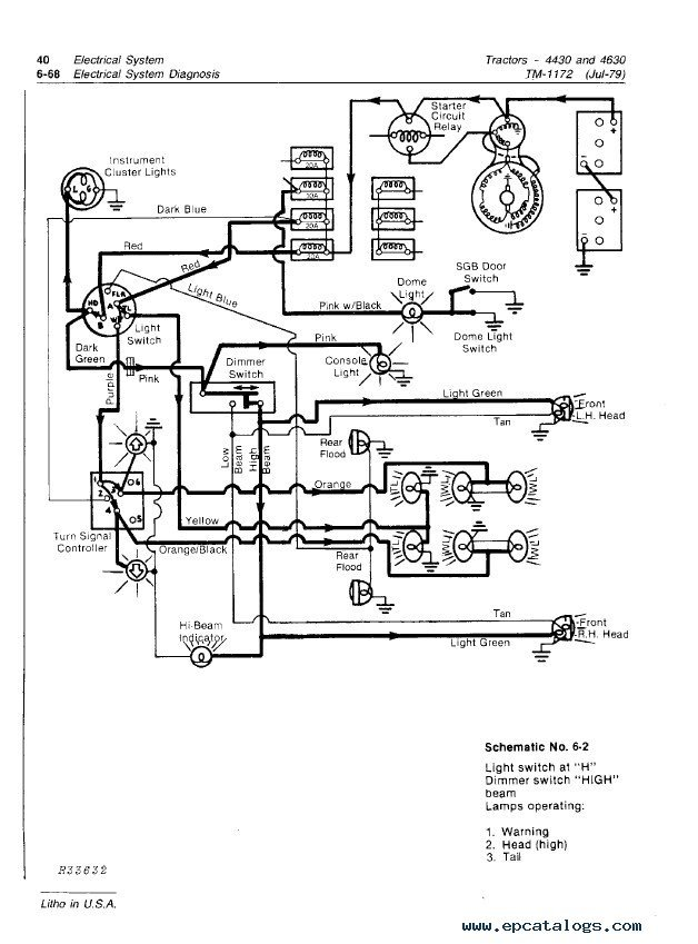 John deere model wiring diagram schemes