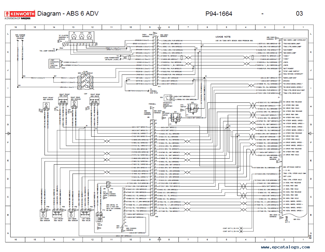 Wiring Diagram Kenworth T2000 – International 9800 Ac Wiring Diagram