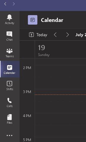 Microsoft Teams Options