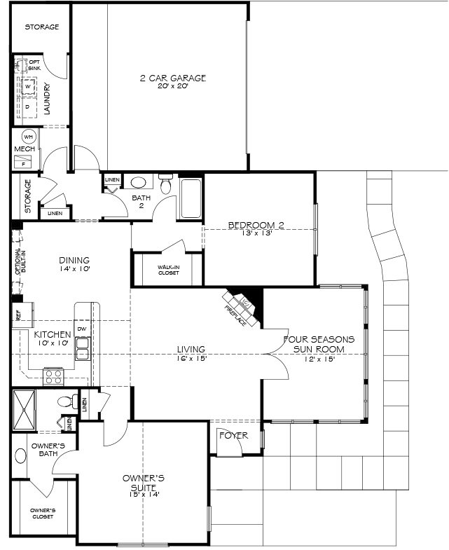 Modern Kitchen Layout Plans