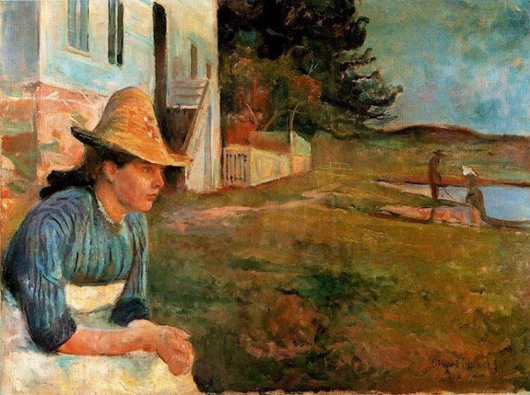 Edvard Munch, Atardecer, 1888, Museo Thyssen Bornemisza.