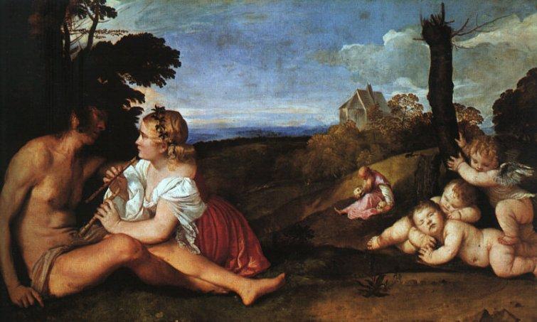 Las tres edades del hombre (1512) Tiziano