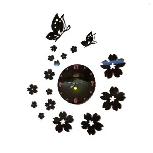 Flower and butterfly theme wall clock online