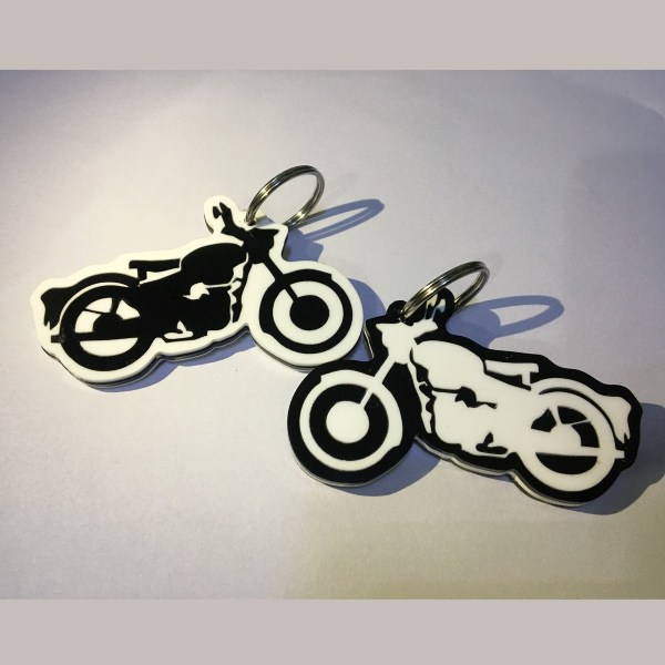 RE Bullet bike shape keychain