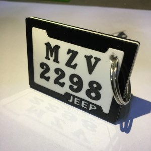 Bike and Car Number plate Keychain