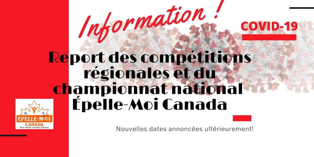 Compétitions régionales reportées