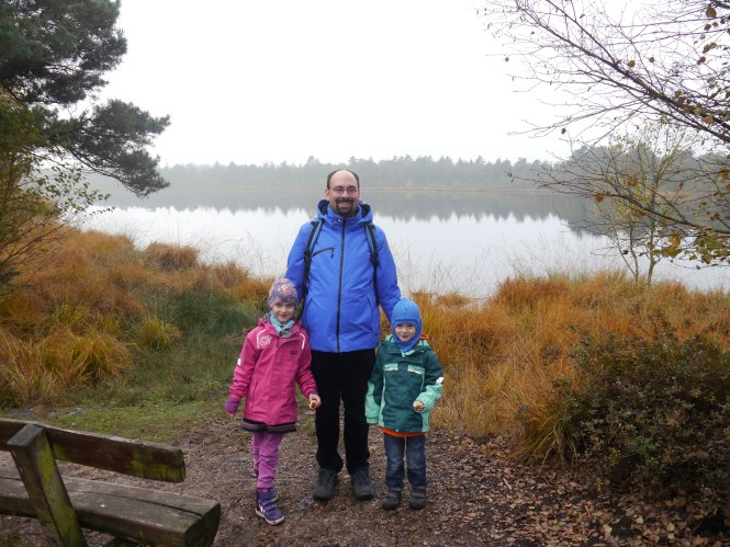 The kids & me at the Grundloses Moor in the Lüneburger Heide