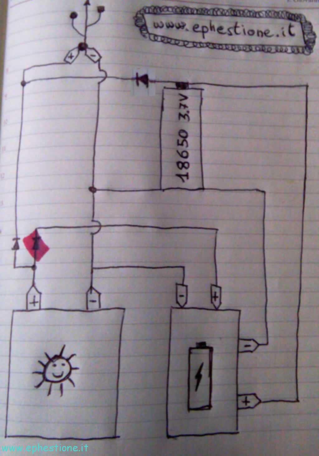 Schema Elettrico Regolatore Di Carica Per Pannelli Solari : Costruire un caricatore a pannello solare con batteria di riserva