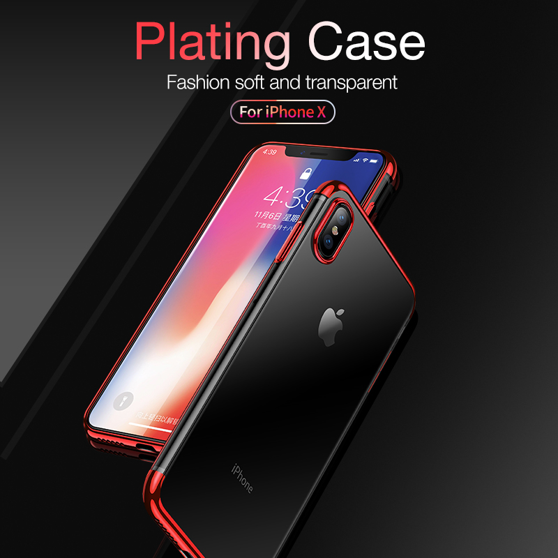 new concept 33427 3f297 CAFELE soft TPU case for iPhone X Xr Xs Max cases ultra thin transparent  plating shining case for iPhone Xs Mixed silicon cover