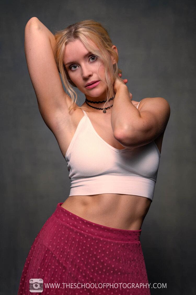 Studio portrait of a female model