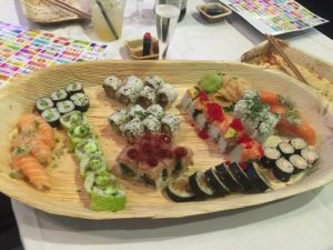 Sushi plate at CodeGarden 16 conference