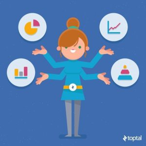 Toptal Designer Blog illustration woman with four arms