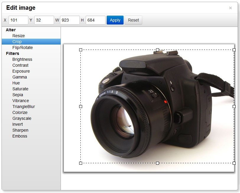 MoxieManager in-browser image editing