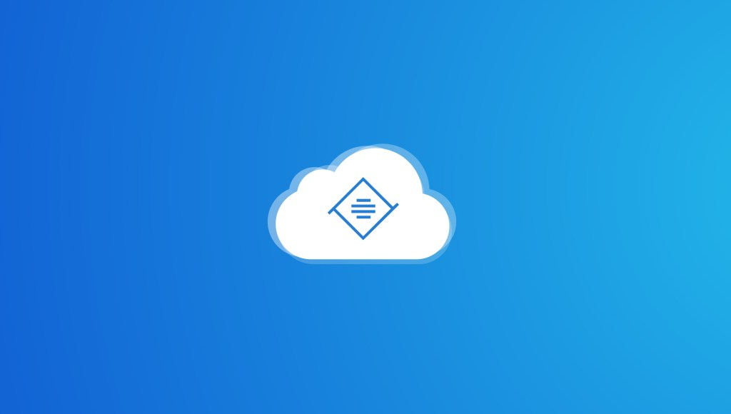 Cloud illustration on gradient blue background