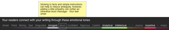 Tooltip suggestions_Tone Analyzer