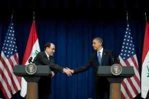 President Obama and Prime Minister Maliki Shaking hands in 20011. Image Source.