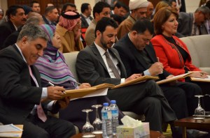Iraqi officials prepare for the upcoming elections. Photo from IHEC.