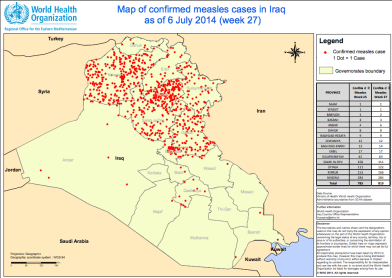 reliefweb.int sites reliefweb.int files resources Map confirmed measles cases in Iraq as of 6July2014.pdf