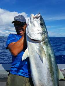 Solid Yellowtail Kingfish caught on an Epic Adventures charter