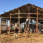 Building a church in Africa.