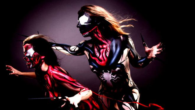 Body Paint Cosplay Girls 14 x Spectacular Cosplayers - Over 18's Only