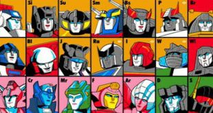The Transformers Periodic Table InfoGraphic Autobots & Decepticons